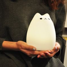 Ombre USB Charging Cat Cartoon Night Light