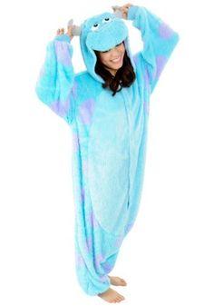 Sulley Kigurumi - Adult Fancy Dress Halloween Costumes...