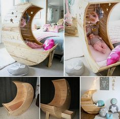 TUTORIAL: DIY MOON SHAPED CRADLE  http://theownerbuildernetwork.co/7rz8  Here's a DIY project that will take your little one to the moon :)  Is that a 'Hey, Diddle, Diddle' we just heard?