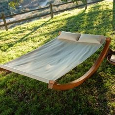Rocker hammock... I would love to read here in the summer