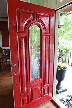 red.  front.  door.