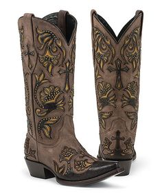 Look at this Black Star Brown Trinity Leather Cowboy Boot on today! Cowgirl Boots, Western Boots, Cowgirl Style, Western Wear, Crazy Shoes, Me Too Shoes, Brown Boots, Black Boots, Westerns