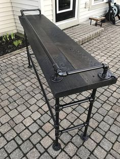 Reclaimed Barn Wood Sofa Bar Table