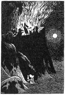 Tove Jansson's illustration (I love how cute she made that little moomin). Art And Illustration, Black And White Illustration, Tove Jansson, Les Moomins, Poesia Visual, Illustrator, Art Manga, Scratchboard, Norse Mythology