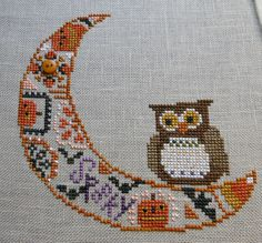 Bent Creek Cross Stitch Freebies | Bent Creek Quaker Moon