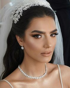 Beautiful Bridal Glam by Lashes in style 'JASMINE' ❤️ Bridal makeup , Bride Makeup, Wedding Hair And Makeup, Hair Makeup, Dewy Makeup, Natural Makeup, Jasmine Bridal, Make Up Looks, Beauty Lash, Hair Beauty