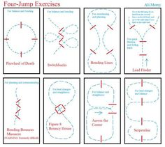 Jumping exercises to improve horse and rider. Def what to try some of these