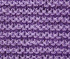 Basic Knitting Stitches - Garter Stitch - for instructions click here