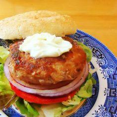 One Perfect Bite: Asian-Style Turkey Burgers with Wasabi Mayo