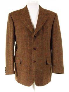 Harris Tweed jacket windowpane check 46S. Tweedmans Vintage e93c3e68a397