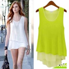 Find More Dresses Information about New Plus Size Women's Candy Color Stitching Fake Two Pieces Wild Chiffon Camisole Dress Bottoming Summer Casual  Chiffon Dress ,High Quality dress rivets,China dresses dress up Suppliers, Cheap dress breast from Tina Fashion Woman Clothing Store on Aliexpress.com