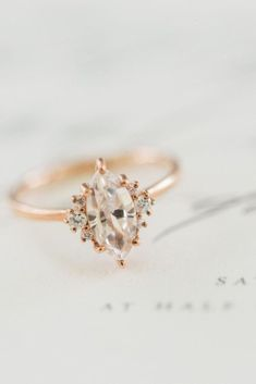 18 Breathtaking Non-Traditional Vintage Engagement Rings. // See more: 18 Unique Vintage Engagement Rings that Will Make You Want to Go Back in Time. // mysweetengagement.com/unique-vintage-engagement-rings // #UniqueEngagementRing #EngagementRing #VintageEngagementRing #VintageWedding #ArtDeco