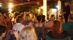Steven Berkoff presented a speech for 20 minutes to over 80 of our Skyros participants in Atsitsa Bay. Steven adores Skyros island and holidays there frequently. Solo Travel, Island, Greece, Life, Holidays, Greece Country, Holidays Events, Holiday, Islands
