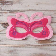 Máscara de la mariposa - Fieltro - Niños Máscara - Traje - El juego imaginativo - Vestir - Favor de partido