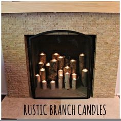Rustic Branch Candles
