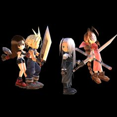 final fantasy 7 characters pictures   Final Fantasy VII : Chibi characters pack. by Kukla-Factory on ...