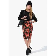 Rose Garden Pencil Skirt