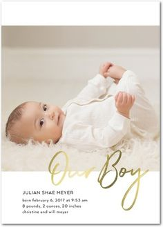 Create birth announcements today + Save up to with Tiny Prints. Choose from categories such as girl, boy, and neutral, as well as foil stamped and glitter cards. Baby Name Reveal, Birth Announcement Photos, Birth Announcements, Girl Diaper Bag, Diaper Bags, Tiny Prints, Baby Boy Newborn, Baby Boys, Baby Boy Nurseries