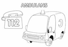 Ambulans Boyama Sayfasi Okuloncesitr Preschool