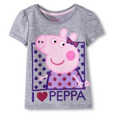 Peppa Pig Toddler Girls' Tee - Grey $7.99 @ Target