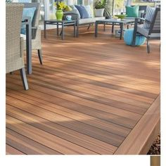 Shop Fiberon Jatoba Composite Decking Board Composite Deck Boards at TheHomeDepot. Deck Flooring, Outdoor Flooring, Patio Deck Designs, Patio Design, Deck Patterns, Composite Decking, Trex Decking, Composite Flooring, Decking Ideas
