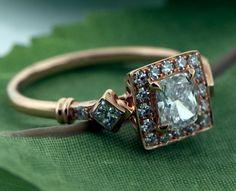 Bridalblissandbling: Vintage Style Engagement Ring