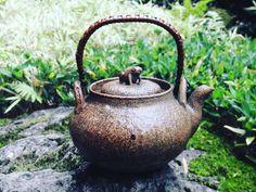 Froggy Tetsubin   .  .  #tetsubin #teaware #teapot #frog #cutie #unique #japan #tea #madeinjapan #teastagram #tealover #japanesetea #garden #travel #outdoor #green #peaceful #teaaddict #wabisabi #vintage #tealife #rustic #kawaii #鉄瓶 #可愛い #かえる #わびさび #お茶 #京都 #宇治