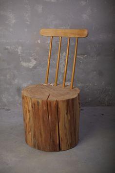 log chair ~~ love it
