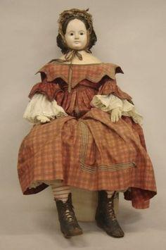 18th/19th century paper mache doll