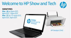 Tune in to #HPShowandTech on Walmart.com/hpshowandtech on 3/26 and 3/27!