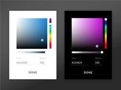 Color Picker UI Design by Charlie Maynard