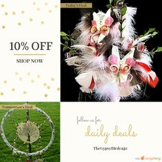 Today Only! 10% OFF this item. Follow us on Pinterest to be the first to see our exciting Daily Deals.  Today's Product: Gypsy Wedding Butterfly Feather Bouquet and Boutonniere Set, Gypsy Wedding Bouquet, Boho Wedding Arrangement, Whimsical Fairy Tale Wedding.  Buy now: https://orangetwig.com/shops/AAAm6G3/campaigns/AACDjZB?cb=2016002&sn=TheGypsyBirdcage&ch=pin&crid=AACDjJQ&exid=162928671