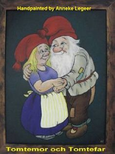 """"""" Tomtepar """", handpainted by Anneke Legeer, the Netherlands, naar voorbeeld van Rolf Lidberg,  30 november 2010."""