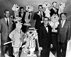 Just a reminder, folks, of who the voices behind Top Cat were (from a Hanna-Barbera publicity handout ahead of the show's 1961 debut):• Front row, l-r: Allen Jenkins (Officer Dibble), Arnold Stang (Top Cat), Maurice Gosfield (Benny the Ball)  • Back...