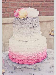 Tartas de boda con flores