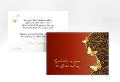 """Einladungskarte """"Sarah"""" A6 Karte"""