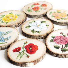 Wood Slice Crafts, Wood Burning Crafts, Wood Burning Art, Wooden Art, Wooden Crafts, Diy And Crafts, Driftwood Crafts, Deco Table Noel, Wood Circles