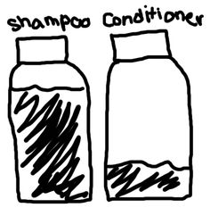 Curly Hair Problem. (all of u with curly hair know how true this is!) :D now I buy the jumbo conditioner and regular size shampoo.. It seems to balance out