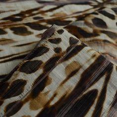 Polyester Animal Print Shirting Dress Fabric - cu