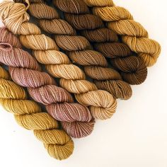 NATURALLY DYED SET E mini-skeins High Twist Sock by DovecoteYarns