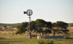 The windmill as a water source   Thuru Lodge   Northern Cape   South Africa