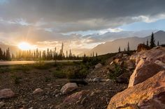 Sunset at the Rocky Mountains Road by Rafael Classen on 500px