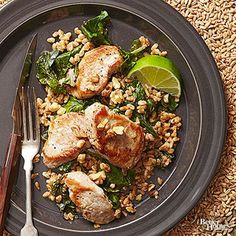 This quick pork dinner gets its bold flavor from an irresistible blend of peanut butter, honey, garlic, and lime.