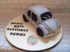 Volkswagen Beetle Car Cake - Cake by Babycakes & Roses Cakecraft