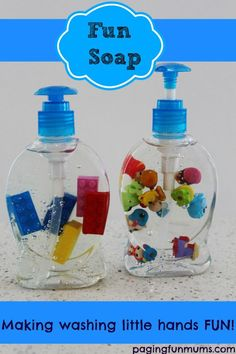 Fun Soap - making washing little hands FUN. Kids will love this in their bathroom! Babysitting Activities, Craft Activities, Toddler Activities, Cool Kids, Diy For Kids, Crafts For Kids, Kids Fun, Barbie Shoes, Baby Kids