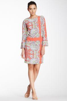 Yoana Baraschi 70's Scarf Print Shift Dress