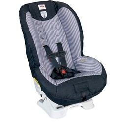 Britax Roundabout 50 Classic Convertible Car Seat - Ashton Energy-Absorbing Base deforms in the event of a crash to absorb impact forces. Rear and Forward Facing Recline for child comfort and positioning. High Density Comfort Foam provides an extra layer of padding to gently cushion your child. Plush, Premium Cover Set with matching belly pad provides extra comfort. Premium Lower LATCH Connectors for a quick and simple installation featuring a push button for easy release.