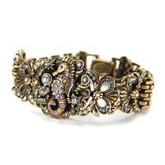 Seahorse Bracelet - Sweet Romance Art Deco Beach style 7.5 inch Seahorse bracelet