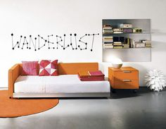 WANDERLUST Constellation Wall Decal  Stars  Home by TipitDesigns