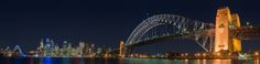 Sydney, Harbour Bridge at night